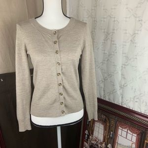 BANANA REPUBLIC woman sweater cardigan colorcream